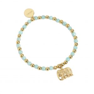 Muru Talisman Stretch Bracelet with Elephant Charm