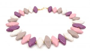 Kazuri ceramic bead necklace from Sophisticato.uk