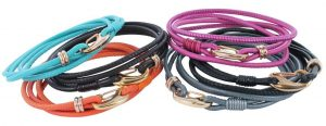 Reeves & Reeves Leather Lobster Clasp Friendship Bracelet Assorted Colours
